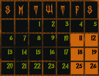 Shadows Realm Haunted House 2019 Calendar